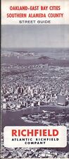 1966 Richfield Road Map: Oakland East Bay Cities Southern Alameda County NOS