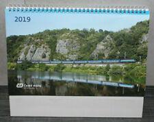 Wochenkalender ČD Ceske Drahy Stolní Kalendař 2019 NEU Tschechische Staatsbahn
