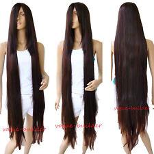 51'' Long Bang Brown Straight Cosplay Hair Wig