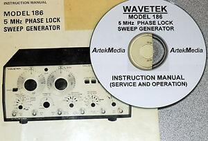 WAVETEK 186 PHASE LOCKED GENERATOR INSTRUCTION MANUAL