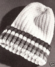Vintage KNITTING Pattern to make Beanie SNOW SKI Pea Cap HAT