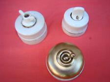 lot de 3 interrupteurs en porcelaine époque début 20éme