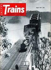Trains Magazine August 1957 Steam in Indian Summer & The Passenger