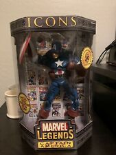 "New Marvel Legends Icons Captain America Masked 12"" Action Figure 2006"