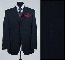 Short Mens Striped Sports Jacket Navy Blue Wool Blazer NEXT SIZE L Large UK 40