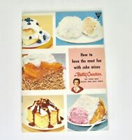 Vintage BETTY CROCKER How To Have The Most Fun With Cake Mixes Recipe Booklet