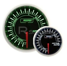 Prosport 52mm Super Smoked Green / White AFR Air Fuel Ratio narrow band gauge