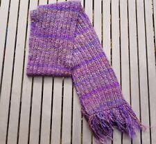 Nine West Knit Scarf With Fringe Dark Purple NWT
