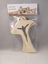 Bomboniera comunione cresima croce colomba polvere marmo 13x9 ricordo Assisi