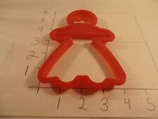 Large Girl 1989 Wilton Cookie Cutter Christmas Gingerbread Dress Plastic
