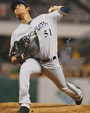 WEI CHUNG WANG SIGNED AUTO'D 8X10 PHOTO POSTER MILWAUKEE BREWERS A