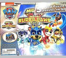 Mighty Pups Super Paws 5 Wood Puzzles - New