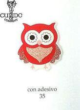 Set 24 stickers gufo rosso adesivo bomboniera laurea laurea H 35 mm - art 57932