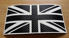 Grande fibre de carbone union jack gb autocollant voiture décalque mini jaguar triumph lotus