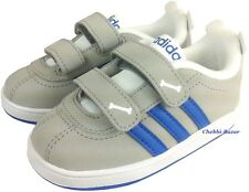 Adidas Neo Court Animal Infants Kinder Baby Schuhe Klettverschluss Grau Neu