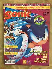 SONIC MAG 2 05/94 MAGAZINE DE JEUX VIDEO CONSOLE SEGA NINTENDO GAME GEAR SNES