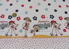 70's campar Blanc PASSEMENTERIES Tissu coton popeline Tissé Hilco Enfants Tissu 25 c