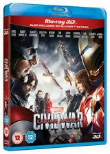 Captain America Civil War Blu-ray 3d 2016 DVD
