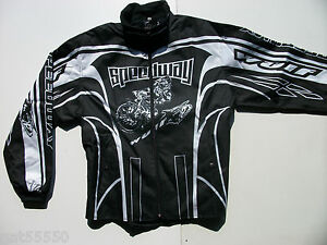 WULFSPORT SPEEDWAY RACING JACKET (ALL SIZES) BLACK TRACK SUPPORTER TIGERS BEARS