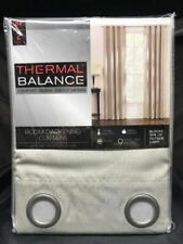 "Thermal Balance 52"" x 84"" Room Darkening Curtains 2 Panels - Ivory"