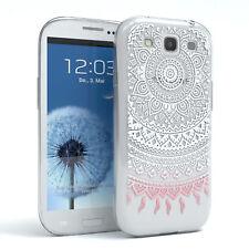 Hülle für Samsung Galaxy S3 / Neo Schutz Cover Handy Case Motiv Weiß / Rosa