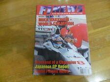 F1 NEWS  FORMULA ONE RACING MAGAZINE #19 NOV 1998 MIKA HAKKINEN JAPANESE GP