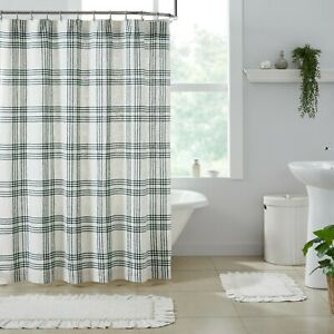 Pine Grove Green Plaid Rustic Country Cottage Farmhouse Shower Curtain