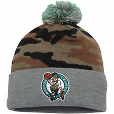 "MITCHELL & NESS ""BOSTON CELTICS"" POM POM BEANIE (CAMO/GREY) HAT -FREE SHIPPING-"