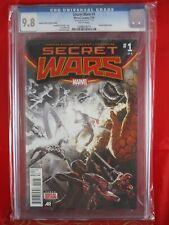 Marvel Comics Secret Wars #1 CGC 9.8 White Pages 7/15 LAUNCH PARTY VARIANT COVER