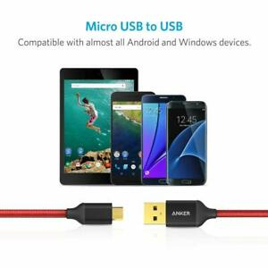 Anker  Micro USB High Speed Sync and Charging Cable Red 6ft Length