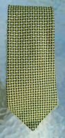 men's Brooks Brothers silk necktie woven gold and silver lines