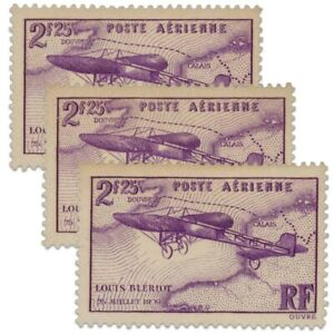 FRANCE PA N°7, 3 TIMBRES NEUFS**/*1934