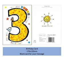 3rd Birthday Greeting Card 170x120mm Card complete w/ envelope