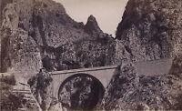 Menton Il Pont San Louis Francia Vintage Albumina Ca 1880