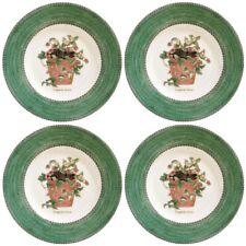 Wedgwood Sarah's Garden Green Salad Plates x 4 - Wild Strawberry