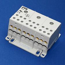 FTG 38075 Verteilerblock 125A Cu 3-pol. Klemmstein 1x35mm²/6x16mm²