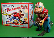 Touchdown Pete mechanical football player TPS T.P.S. Marx Linemar tin toy 1956
