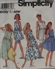 Simplicity Easy to Sew Dresses and Shorts - Size: Petite Medium