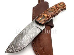 EVEREST HUNT CUSTOM HANDMADE DAMASCUS STEEL HUNTING CAMP SKINNER KNIFE B3-115