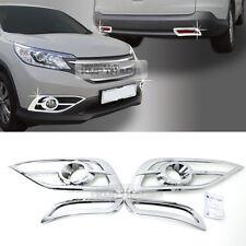 Chrome Silver Side Fog Lamp Molding Cover Trim C445 4P for HONDA 2012-14 CR-V