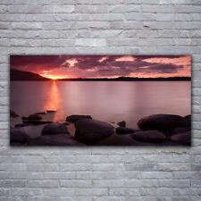 Acrylglasbilder Wandbilder aus Plexiglas® 120x60 Meer Steine Landschaft