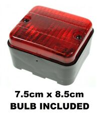 12v Car/Trailer E Approved Square Rear Red Fog Lamp Light Universal Flush mount