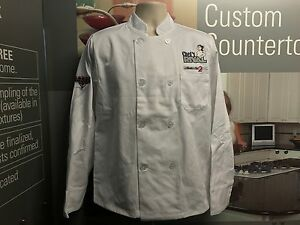 Lot of 3 Brand New Unisex White 8-Button Chef Coat Jacket Long Sleeve Men Women