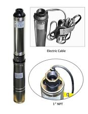 "Submersible Pump, 3"" Deep Well, 3/4 HP, 115V, 13 GPM, 247 ft MAX, Long life"