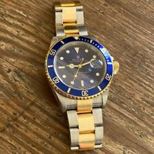 ROLEX SUBMARINER 16613 TWO-TONE WATCH 100% GENUINE P SERIAL BLUE DIAL