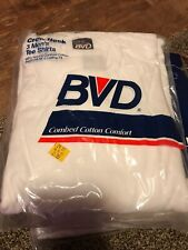 Vintage BVD Men's White T-Shirt Crew Neck Pack of 3 Size Small 1992 NEW