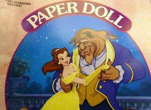 Disney's paper doll Beauty and the Beast precut Fashion and 3 dolls