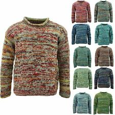 WOOL KNIT SPACE DYE JUMPER HIPPIE FESTIVAL CHUNKY WINTER WARM SWEATER NEPAL