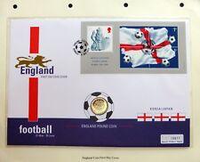 GB 2002 England Football £1 Coin PNC Souvenir FDC NJ870