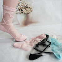 Cute Bowknot Sheer Mesh Bow Knit Frill Trim Transparent Crystal Lace Ankle Socks